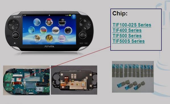兆科TIF导热材料在手持游戏机硬件的应用