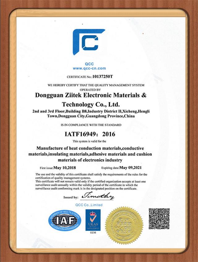 兆科电子:IATF 16949  2016英文版