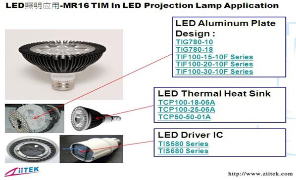 兆科导热硅脂|导热塑料|导热灌封胶在LED照明-MR16的应用