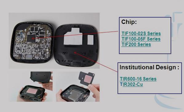 TIR导热石墨片|软性导热硅胶片系列应用于网络机顶盒