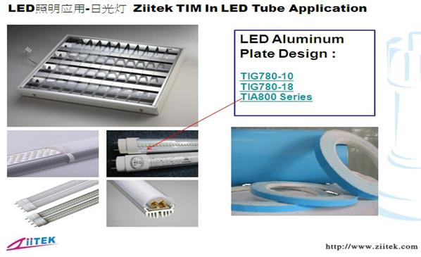 TIA系列导热双面胶 TIG散热膏应用于日光灯