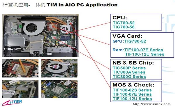 兆科导热硅脂|导热硅胶片|导热相变化在计算机机体硬件的应用