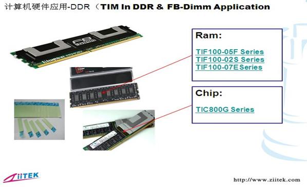 兆科导热硅胶片|导热相变化在DDR计算机机的应用