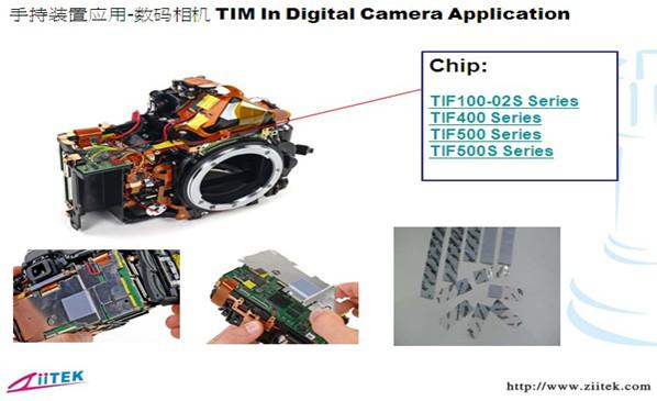 兆科TIF导热材料在数码相机的应用